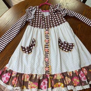 Jelly the Pug long sleeved dress